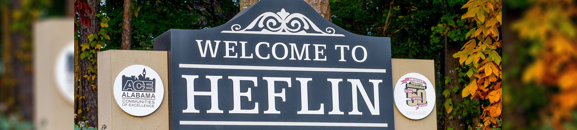 welcome to Heflin sign